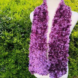 Beautiful Purple Fluffy Neck Scarf / Warmer